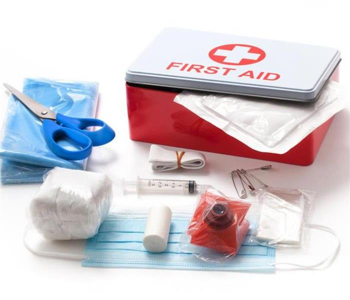 First aid kit and contents of first aid kit